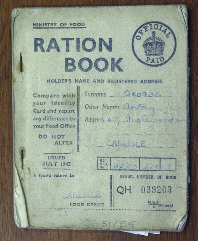 Ration Book During The War 1942 Carlisle