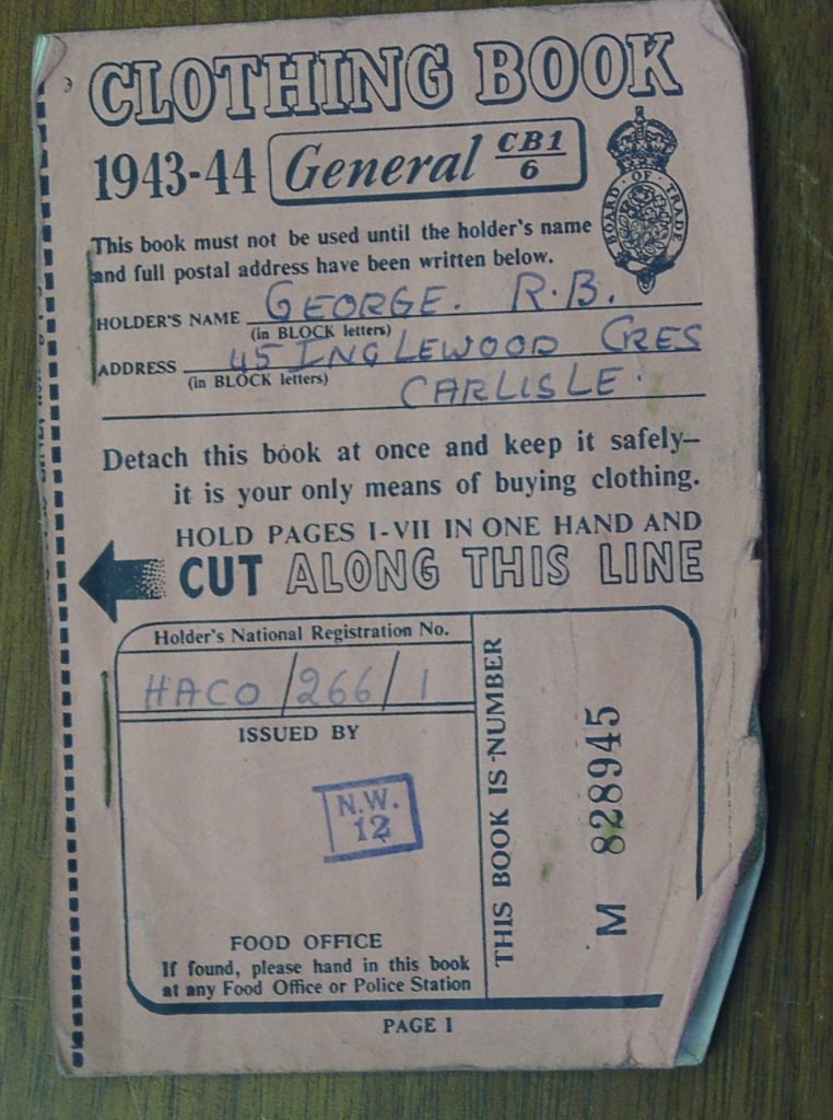 Ration Book For Clothes During The War 1943 2
