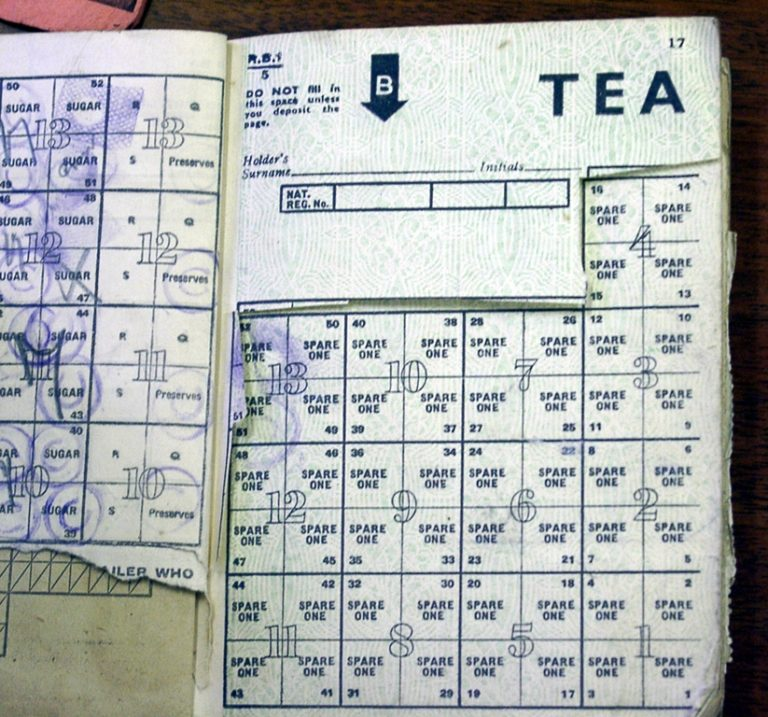 Ration Book For Tea And Sugar During The War 1943