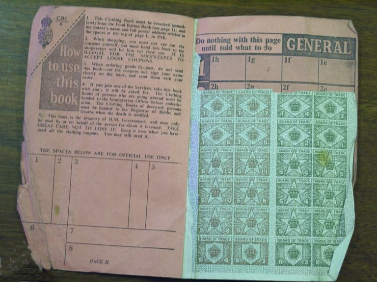 Ration Book Inside After The War 1952 1953