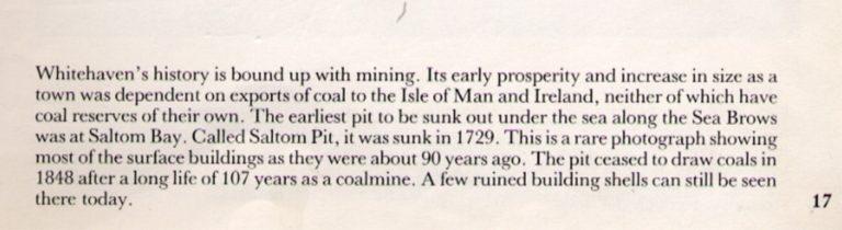 Saltom Mine Pit 1892 Text