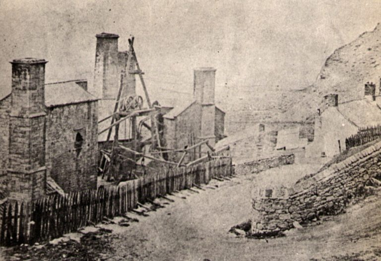 Saltom Pit Mine 1892 With Wooden Tripod For Winding Wheel Photo