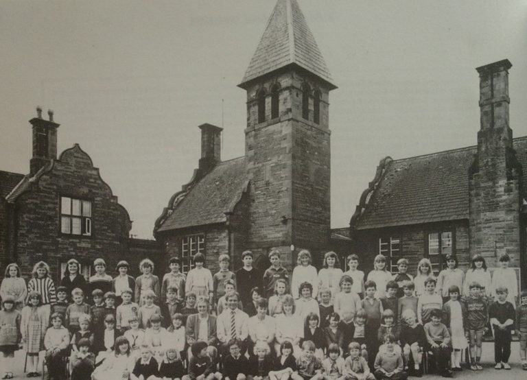 School Photo In Front Of Tower C 1930s