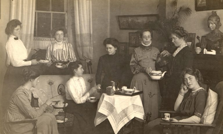 School Staff Having Tea 1900 To 1920