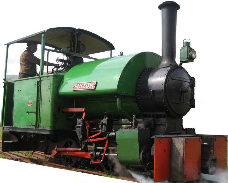 Sir Tom loco train cutout Threlkeld Quarry