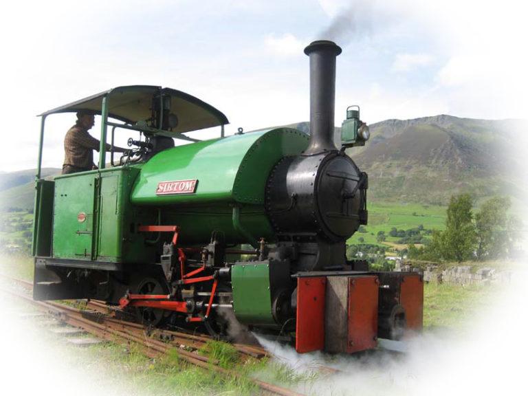 Sir Tom loco train oval fuzz Threlkeld Quarry