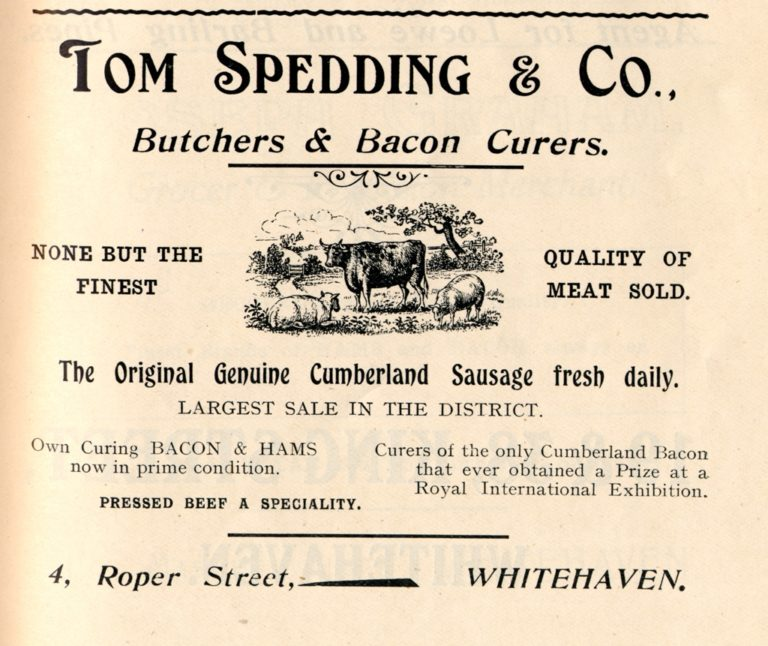 Tom Spedding Butchers Advert 1912