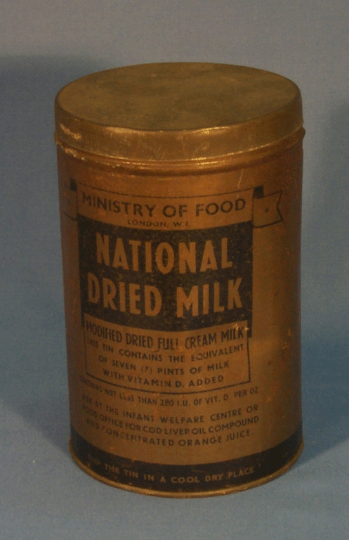 War Rations National Dried Milk From Ministry Of Food
