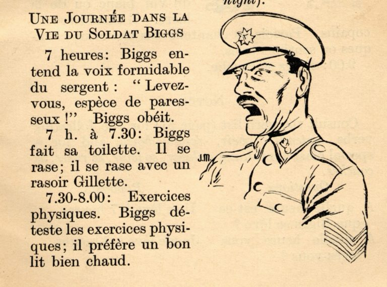 Wartime Easy French For The Forces Soldier Biggs In Trouble With Sgt Major