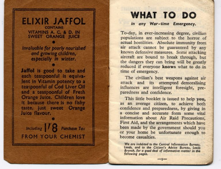 What To Do In Wartime Emergency In Front