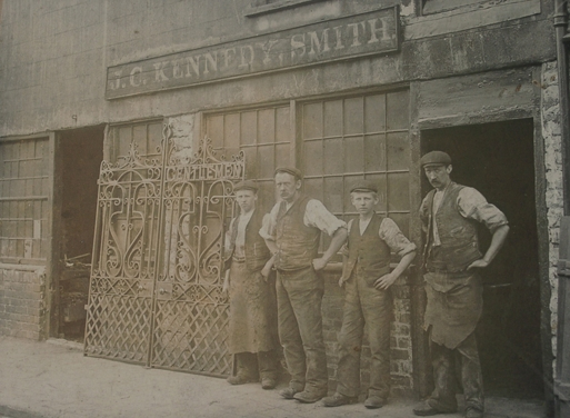 Foundry Workers With Gate